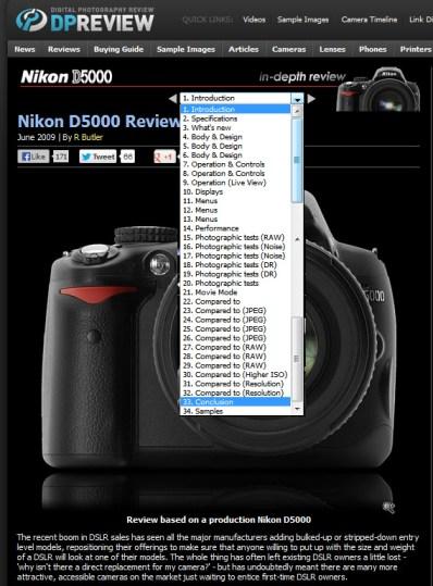 tela do review