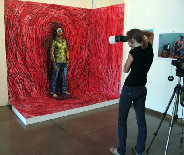 Alexa Meade e o porquê de transformar pessoas em pinturas vivas