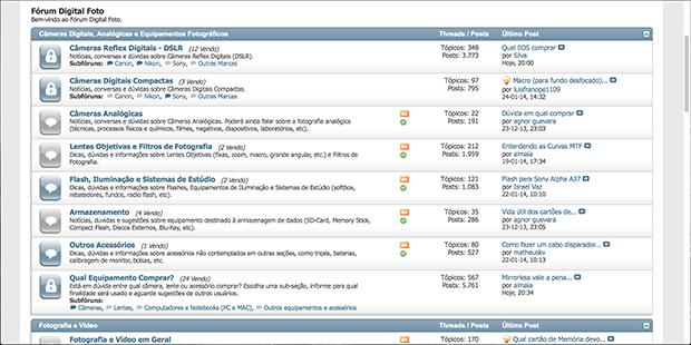 tela do nosso fórum Digital Foto