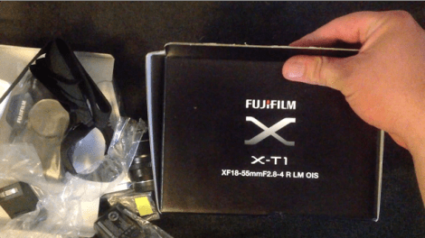 Unboxing Fujifilm X-T1 - screenshot