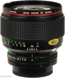 Canon 85mm f1.2L FD