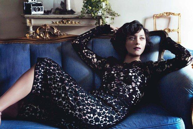 Marion Cotillard para a Vogue, por Mario Testino.