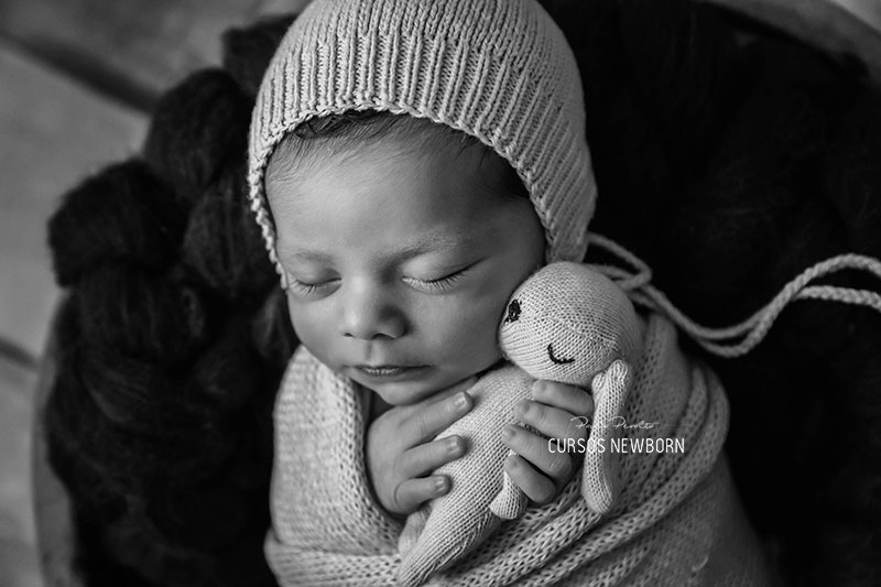 preset blanco y negro contrastado para newborn