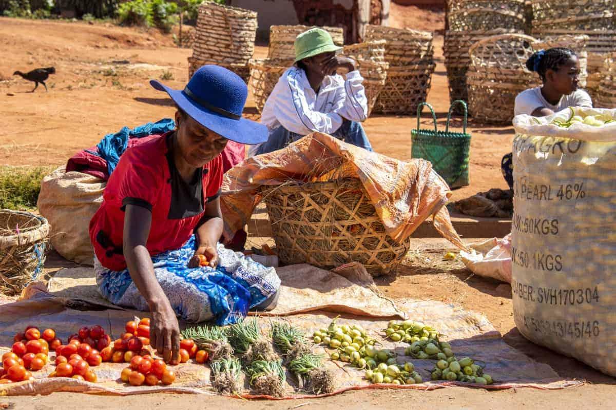 Fotoreis Madagaskar Ambalavao markt