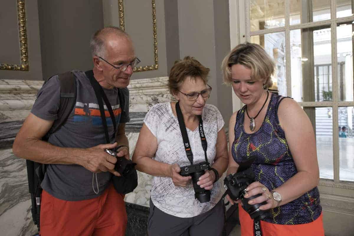 Fotoreizen Valencia Roelf, Mieke, Lisette in ayuntamiento
