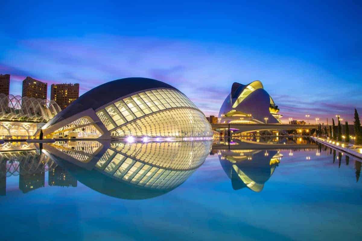 Fotoreizen Valencia avondfoto ciudad de las ciencias