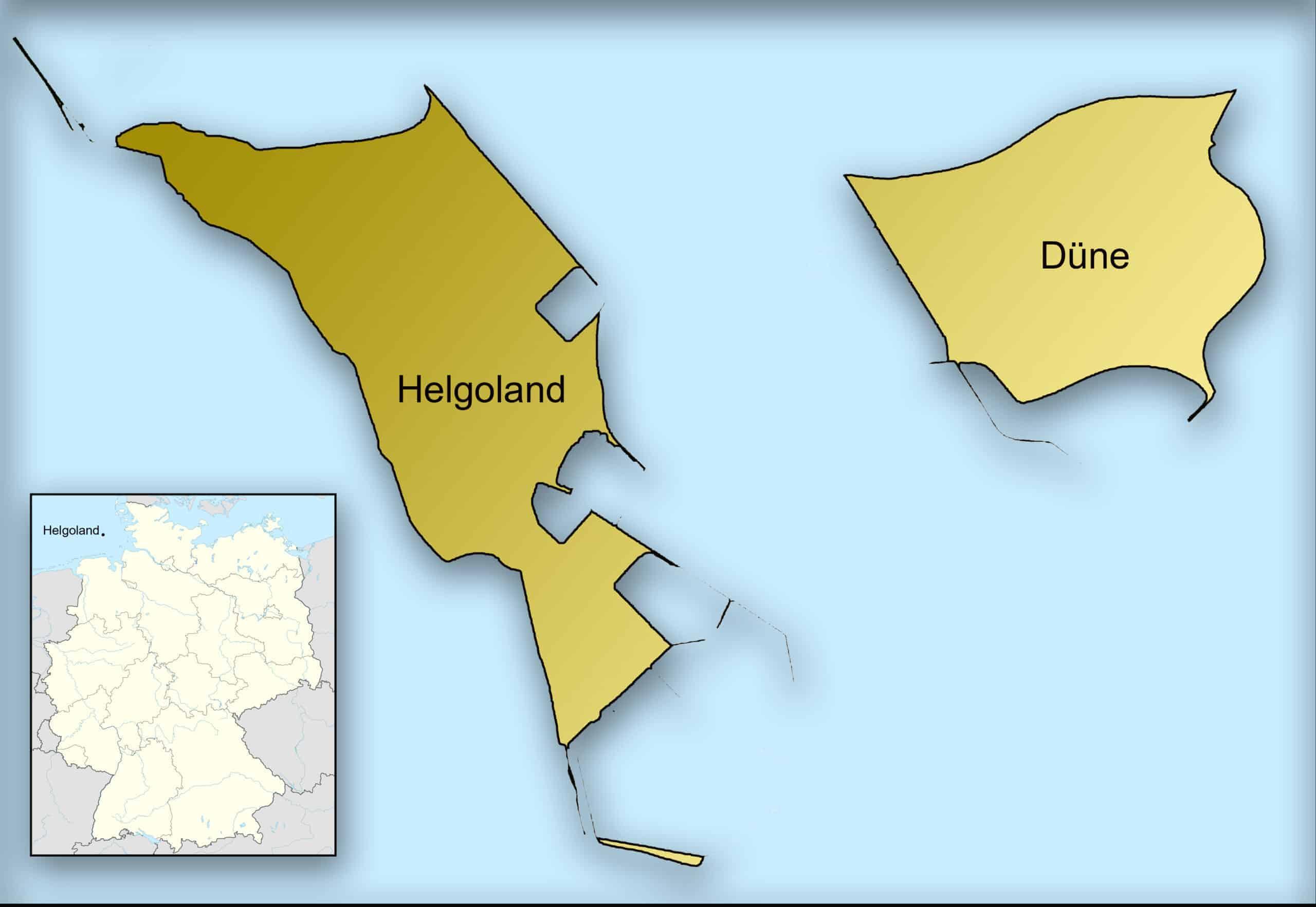 Kaart Helgoland
