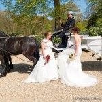 bruidsfoto bij koets, Rhederoord