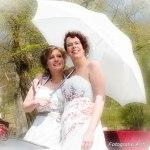 bruiden onder de paraplu