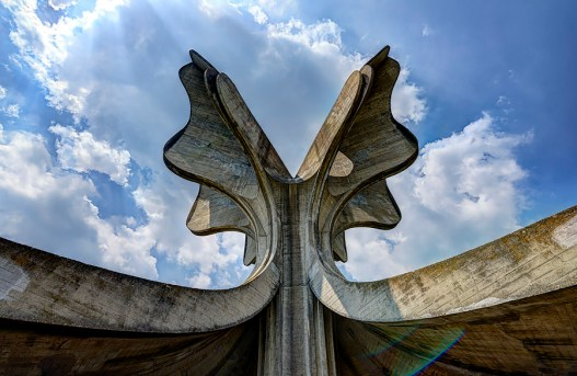 A monument made by architect Bogdan Bogdanovic at the place of the former WWII concentration camp in Jasenovac, Croatia (ex Yugoslavia).
