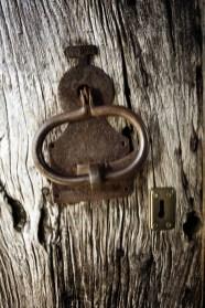 Detalle puerta en el Pazo de Eidian