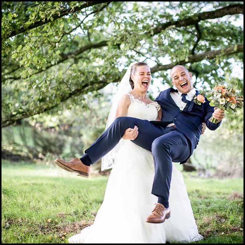 indtryk, følelser og stemning ved bryllup i Randers