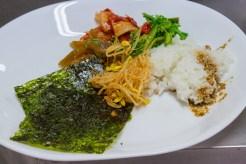 Základ všeho je vždy kimči, fermentované zelí obykle v nálevu z pálivých papriček...