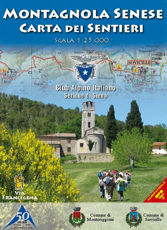 Cartina sentieri Montagnola Senese CAI Siena