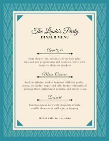 Dinner Menu Maker Create Dinner Menus Online For Free