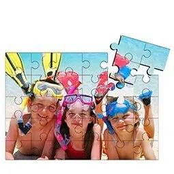 Houten puzzel met foto