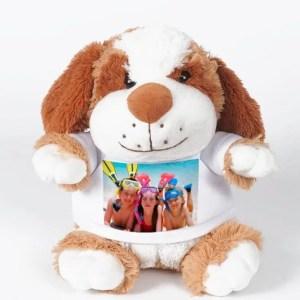 Knuffel met foto Hond