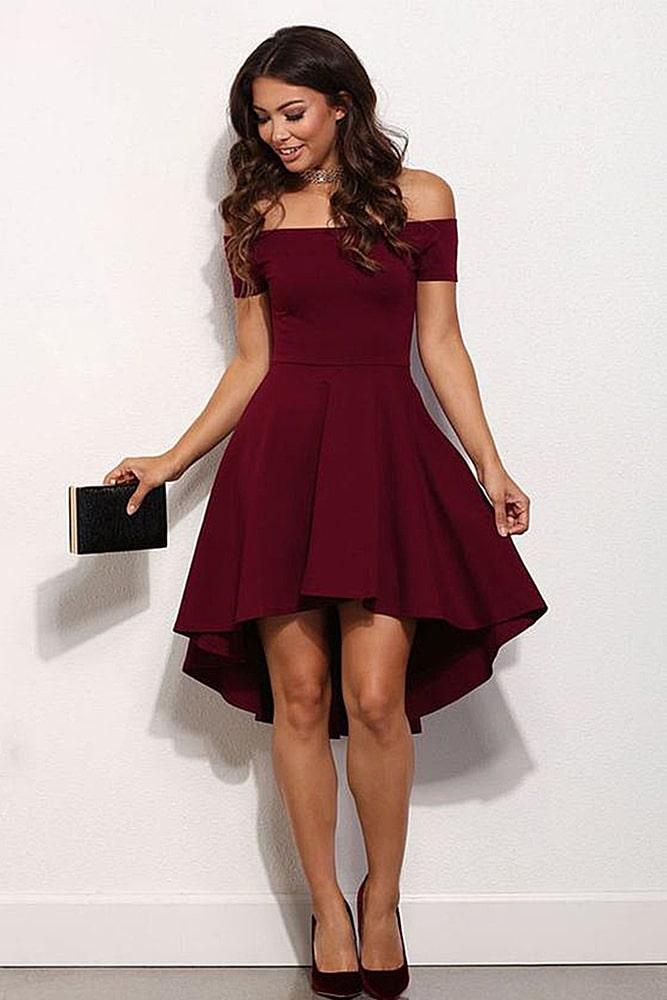 коктейльные платья бордо