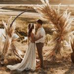 декор свадьбы бохо стиль свадьбы молодожены свадебная арка