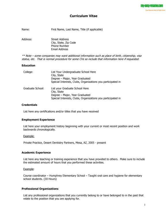 resume vs curriculum vitae curriculum vitae samples rich image and cv