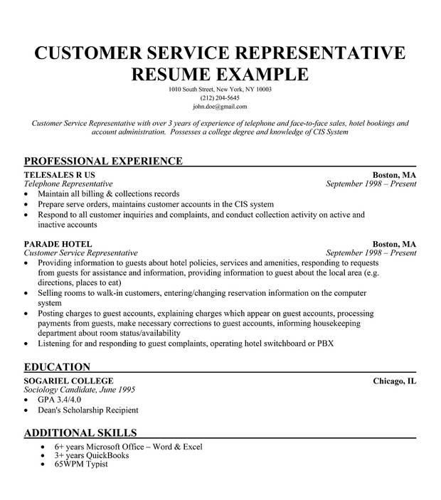 customer service template