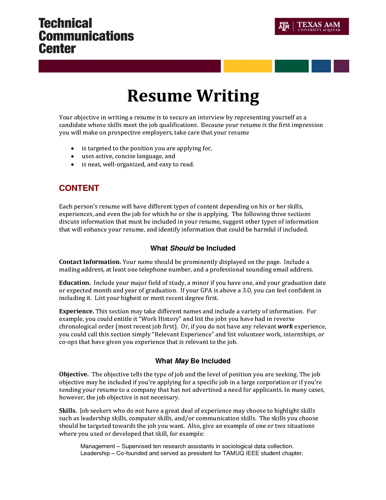 is an objective necessary on a resumes