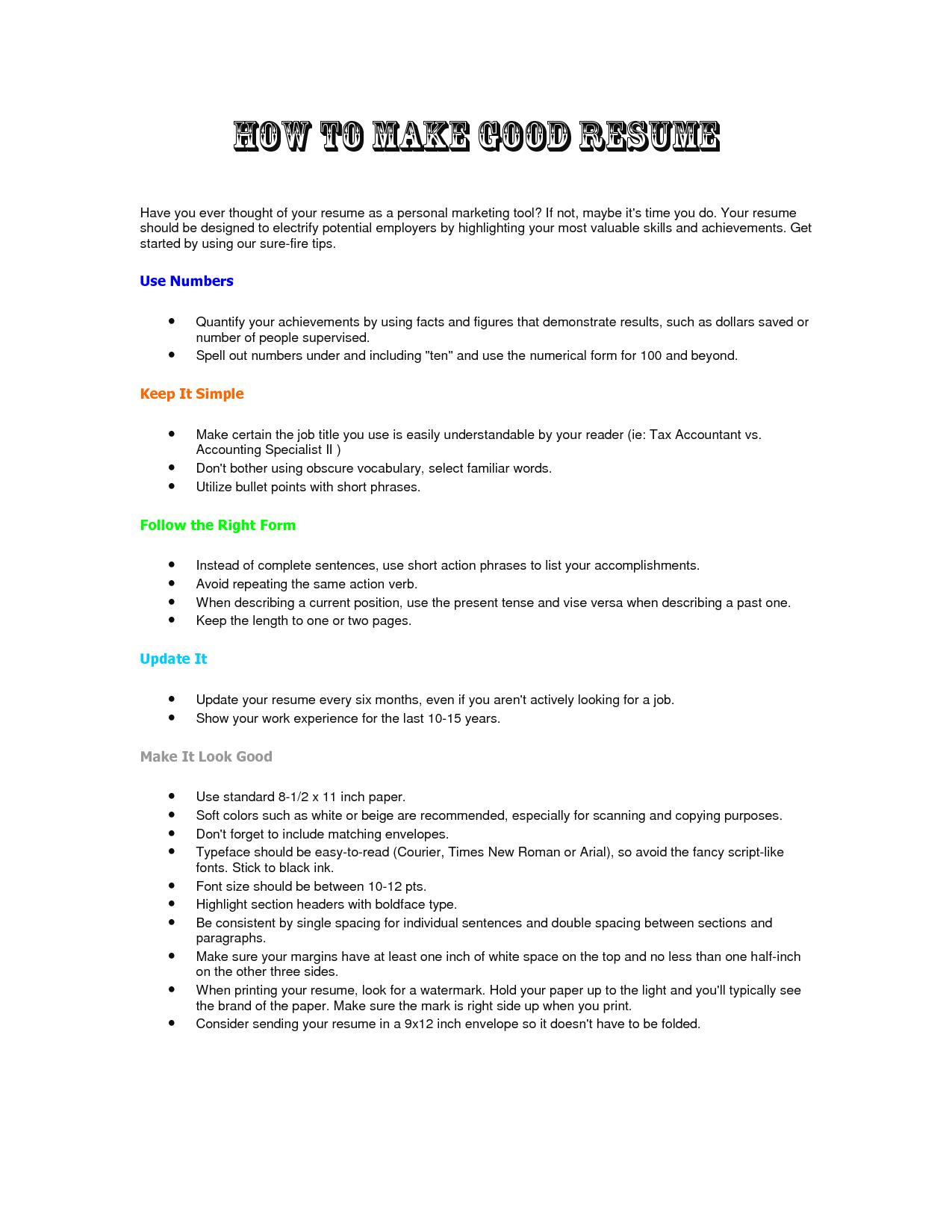 Best program for making a resume