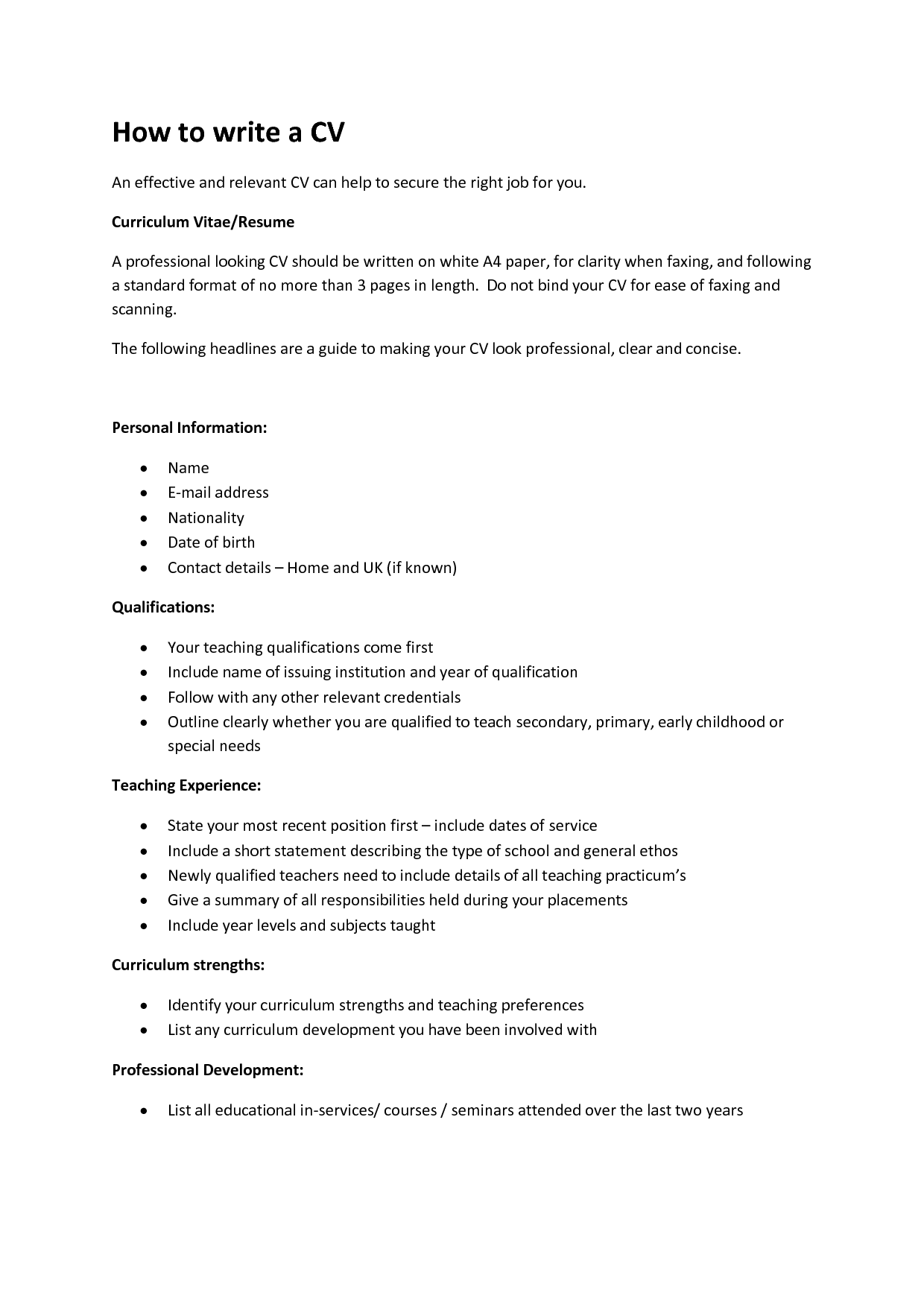 how do i do a cv daven tk category curriculum vitae