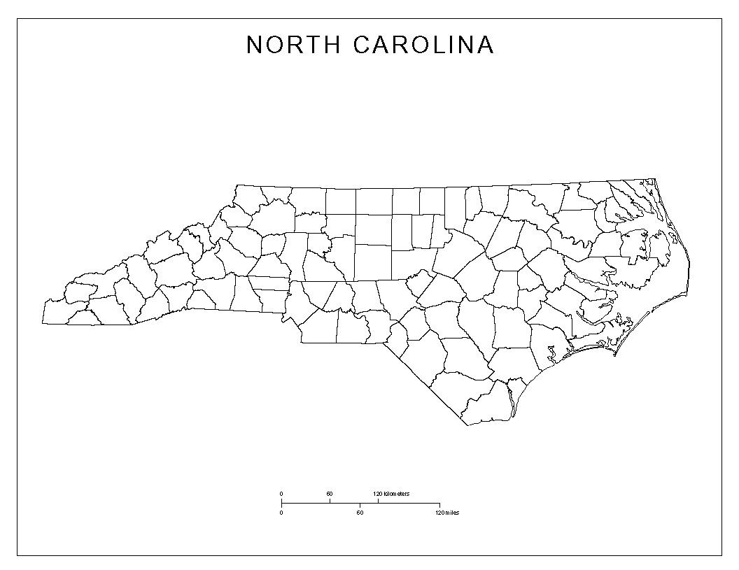 North Carolina County Map