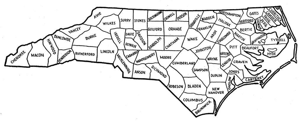 North Carolina County Map Fotolip