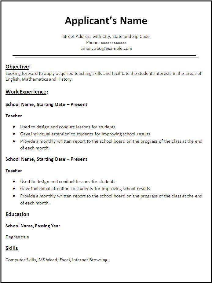 Doc638826 Resume Performa Mba resume format 76 More Docs – Resume Performa