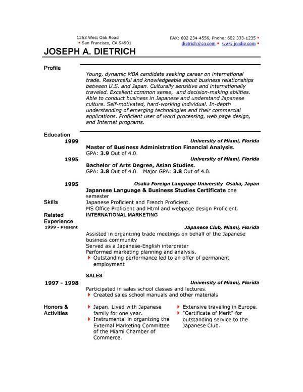 resume for microsoft job abij