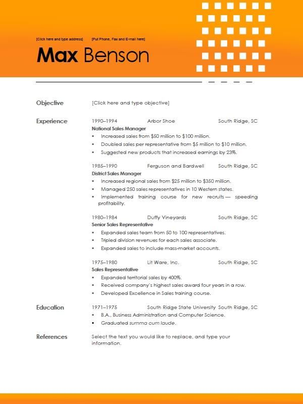Resume Templates Word 2010 [Corybantic.Us]