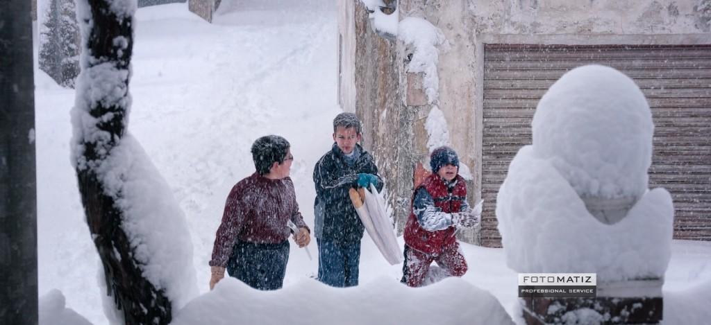Half a meter of snow in El Sabinar