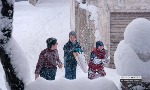 Half a meter of snow in El Sabinar