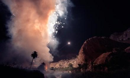 More than eighteen thousand rockets illuminate Ojós