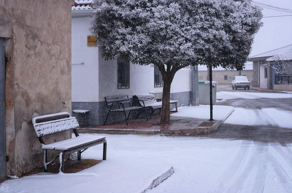 Calle nevada en el Sabinar