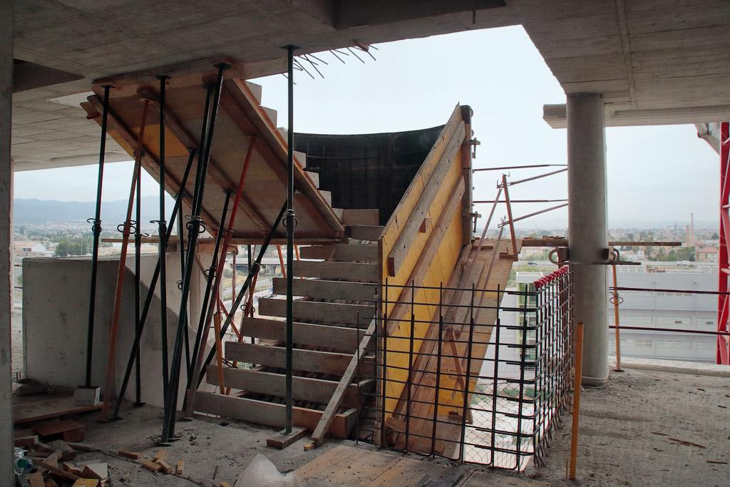 Construcción de las escaleras