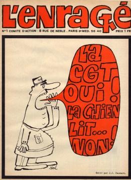 """Copertina della rivista """"L'enragé"""", Parigi, maggio 1968. Fondazione ISEC, fondo Umberta Conti."""
