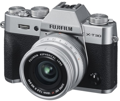 FujiFilm X-T30 Silver + XF 16mm F2.8