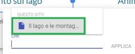Google Sites - Attivazione collegamento
