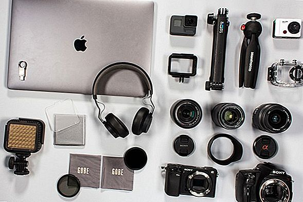 Kit attrezzatura fotografica, obiettivi e accessori