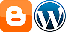 Logos de Blogger y WordPress