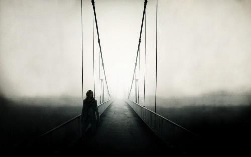 Soledad en el puente