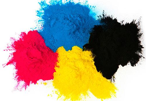 Colores pigmento cmyk