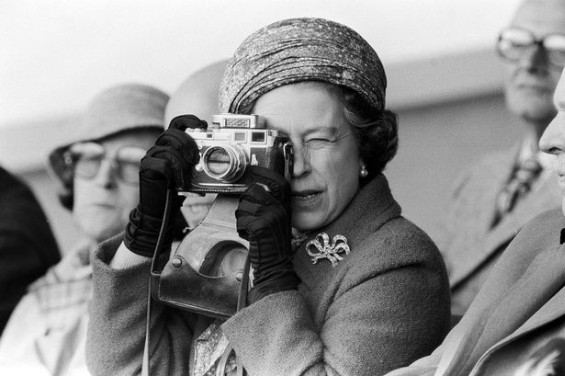 HM Queen Elizabeth with her Leica m3