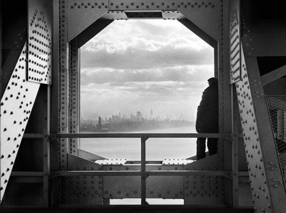 A view of the city from the New York tower of George Washington Bridge, 168th Street & Hudson River, on December 22, 1936. (Jack Rosenzwieg-Courtesy NYC Municipal Archives)