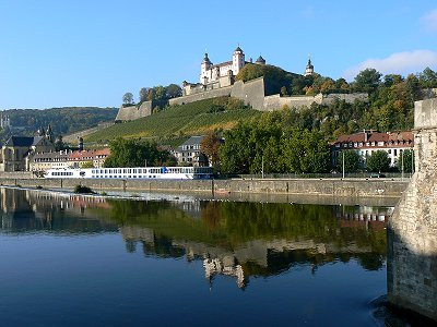 Würzburg - Festung Marienberg über dem Main