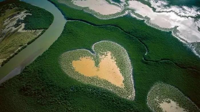 Corazón de Voh - Yann Arthus Bertrand - 1990