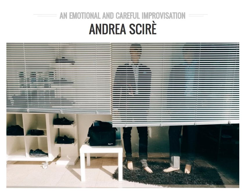 AN EMOTIONAL AND CAREFUL IMPROVISATION - Andrea Scirè Interview